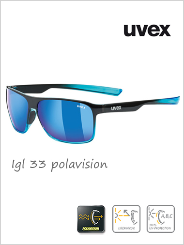 Lgl 33 polavision blue mirror sunglasses - cat 3