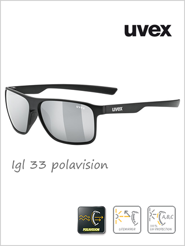Lgl 33 polavision silver mirror sunglasses - cat 3