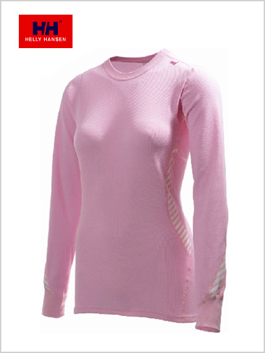 Women's Dry long sleeved crew - pink (only XL now left)