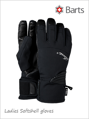 Barts ladies SOFT SHELL ski gloves - black