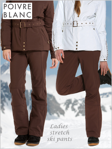 Ladies stretch ski pants - vison (only UK 12 now left)