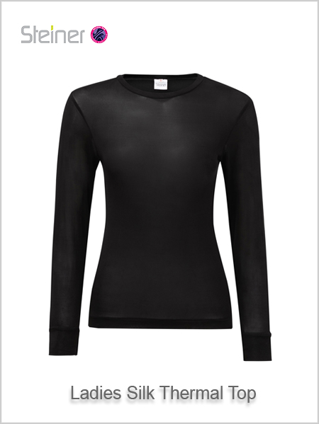 Ladies silk thermal top