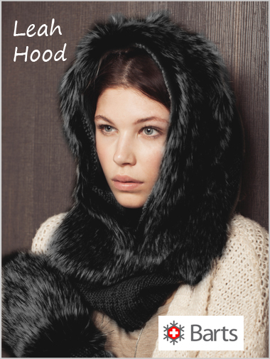 Leah Faux-fur hood in Black