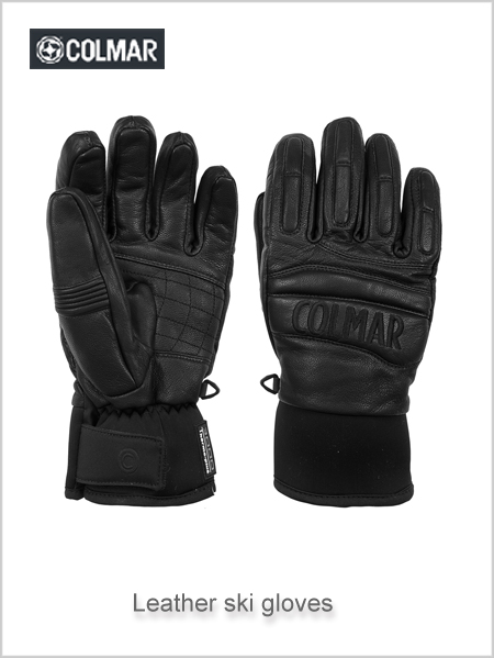 Leather 6RU ski gloves