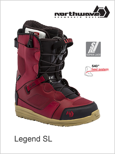 Legend SL mens snowboard boot - dark red