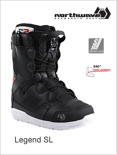 Legend SL mens snowboard boot - black