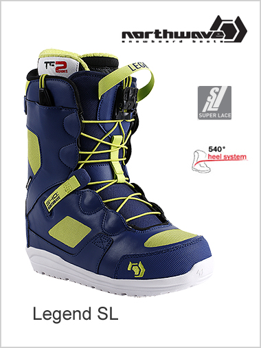 Legend SL mens snowboard boot - blue / lime