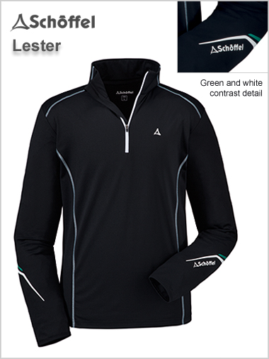Lester - performance ski top black