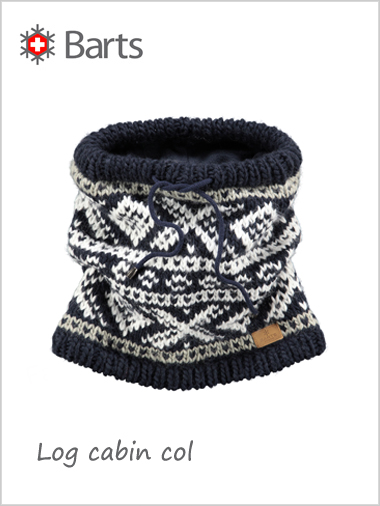 Log cabin col (neckwarmer) - navy