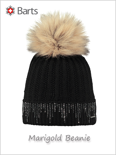 Marigold beanie (with rhinestones) - black