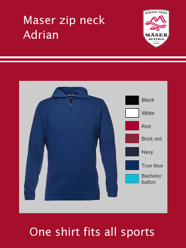 Maser Adrian mens zip neck top