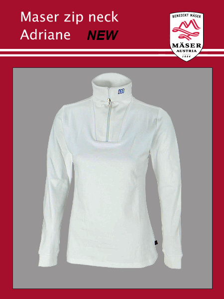 Maser Womens Adriane zip neck top - White