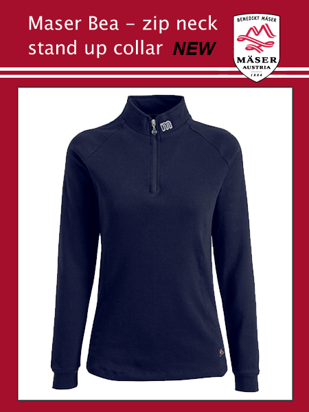 Maser Bea stand up collar top - Navy