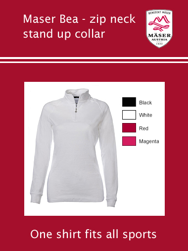 Maser Bea stand up collar top