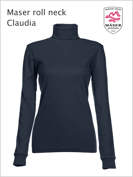 Maser Womens Claudia roll neck - Navy
