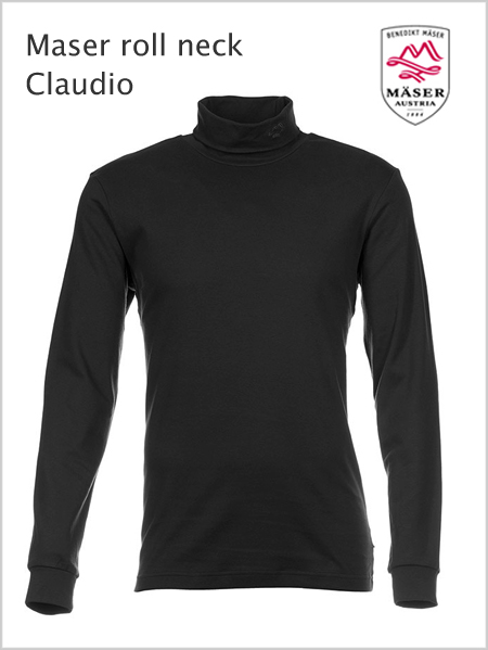 Maser Claudio mens roll neck - Black (only 4XL now)