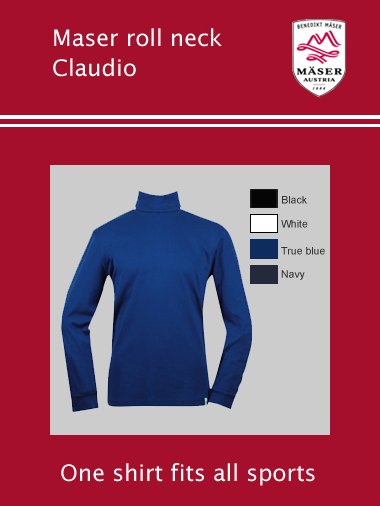 "Maser Claudio roll neck - mens - (only 4XL 48-50"" chest)"
