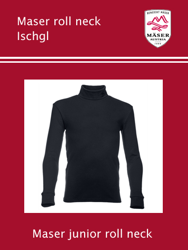 Maser Ischgl junior roll neck top - Black