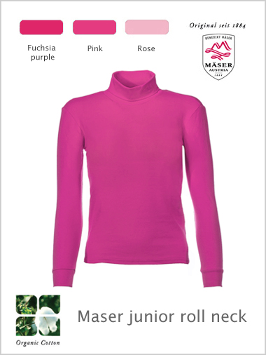 Maser junior roll neck top - pinks