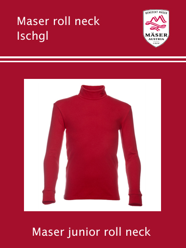 Maser Ischgl junior roll neck top - Red
