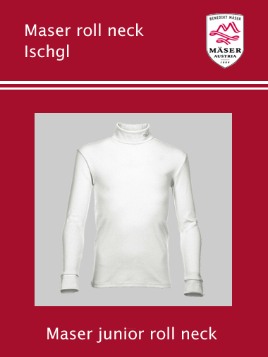 Maser Ischgl junior roll neck top - White