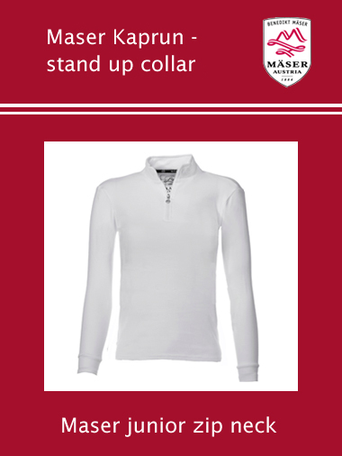 Maser Kaprun junior stand up collar shirt - white