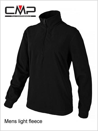 Mens fleece top - black