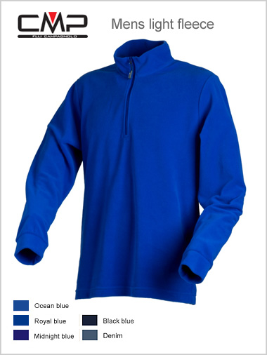 Mens fleece top - blues