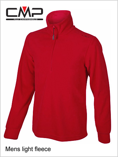 Mens fleece top - red