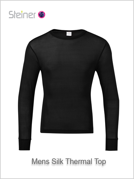 Mens silk thermal top