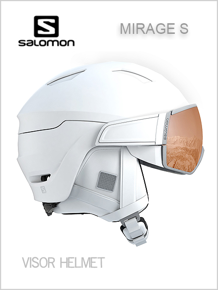 Mirage S helmet with visor - white