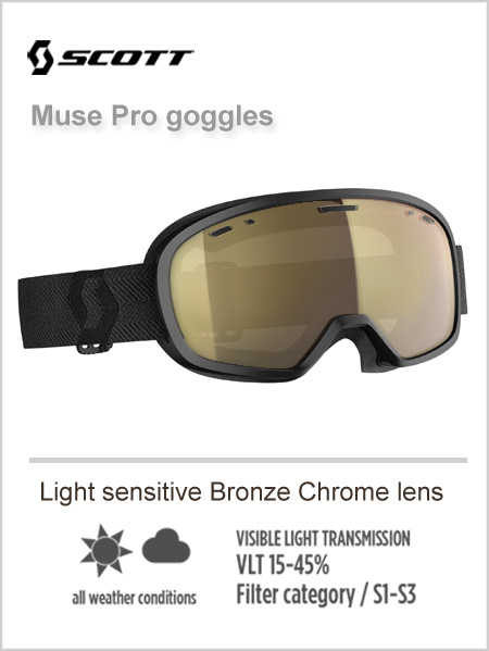 Muse pro goggles -  light sensitive bronze chrome lens
