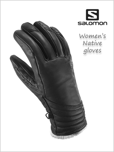 Native Ladies leather gloves - black