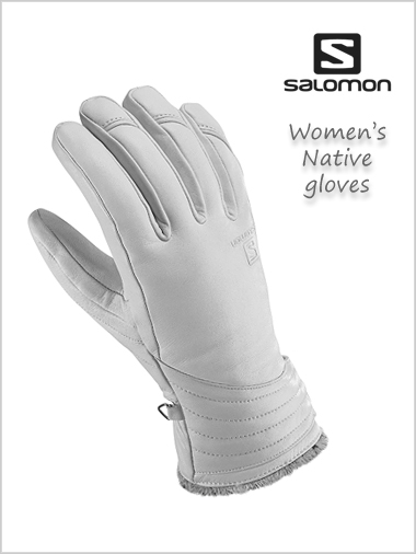 Native Ladies leather gloves - white