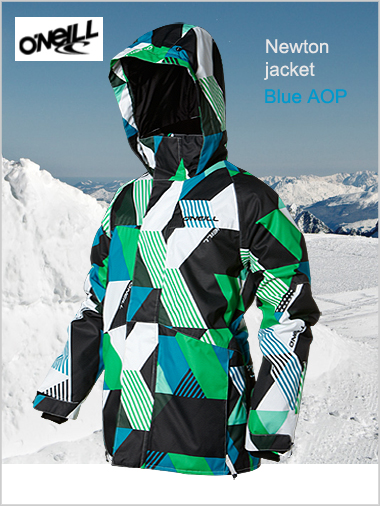 Ages 12: Newton jacket - Blue / green AOP