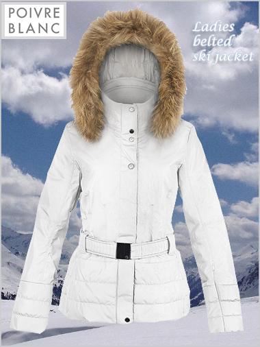 Womens ski jacket with fur collar