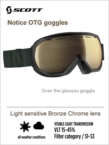 Notice OTG goggle - light sensitive bronze chrome lens