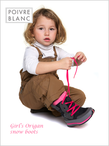 Origan snow boots - black / pink