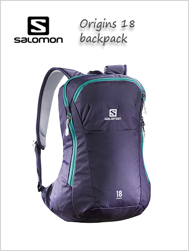Origins 18 backpack - Nightshade grey / teal blue