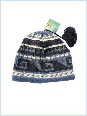 Knit hat - mid blue