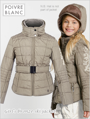 Age 10: Girls bronze ski jacket