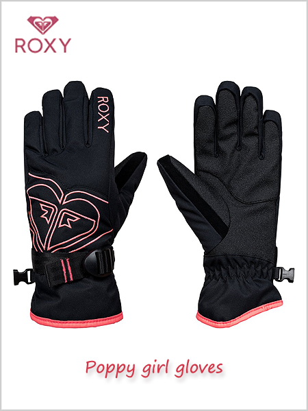 Junior: Poppy girl gloves - True black