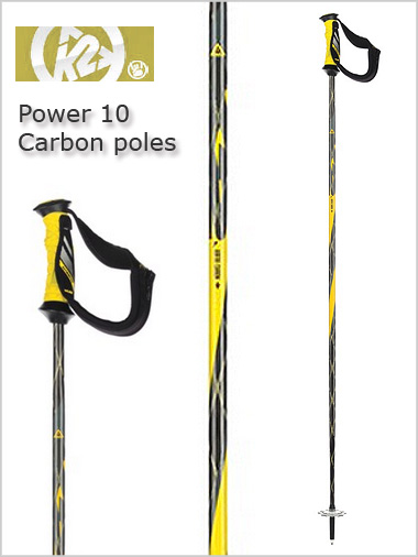 Power 10 Airfoil Carbon ski poles