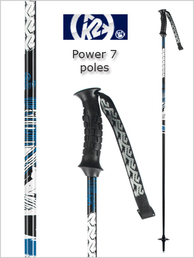 Power 7 ski poles - blue / black 125cm