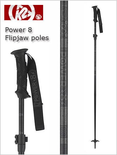 Power 8 flipjaw black - adjustable length