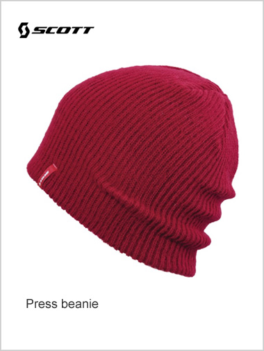 Press beanie - red