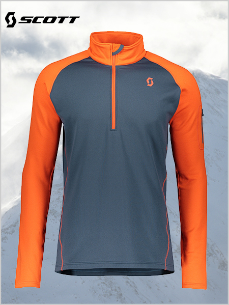 Defined Light Pullover - Orange / Nightfall blue