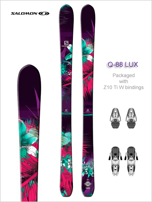 Q-88 LUX skis and Z10 Ti W binding