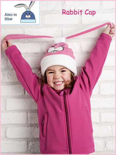 Rabbit Cap (pink or blue) - child