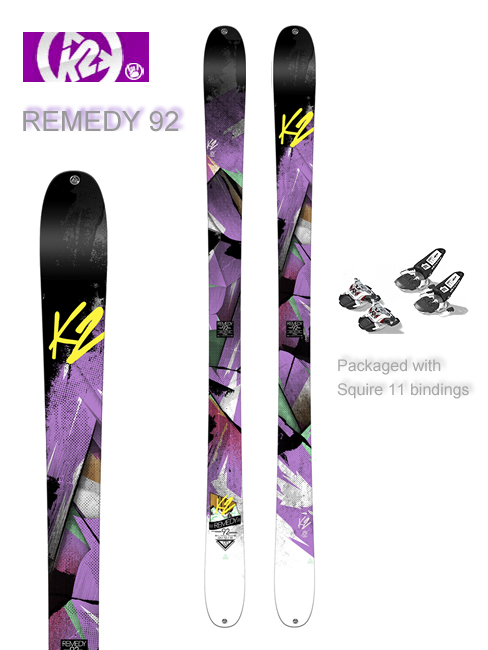 Remedy 92 skis and Marker Squire 11 bindings